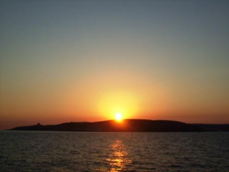 Sunset on Comino