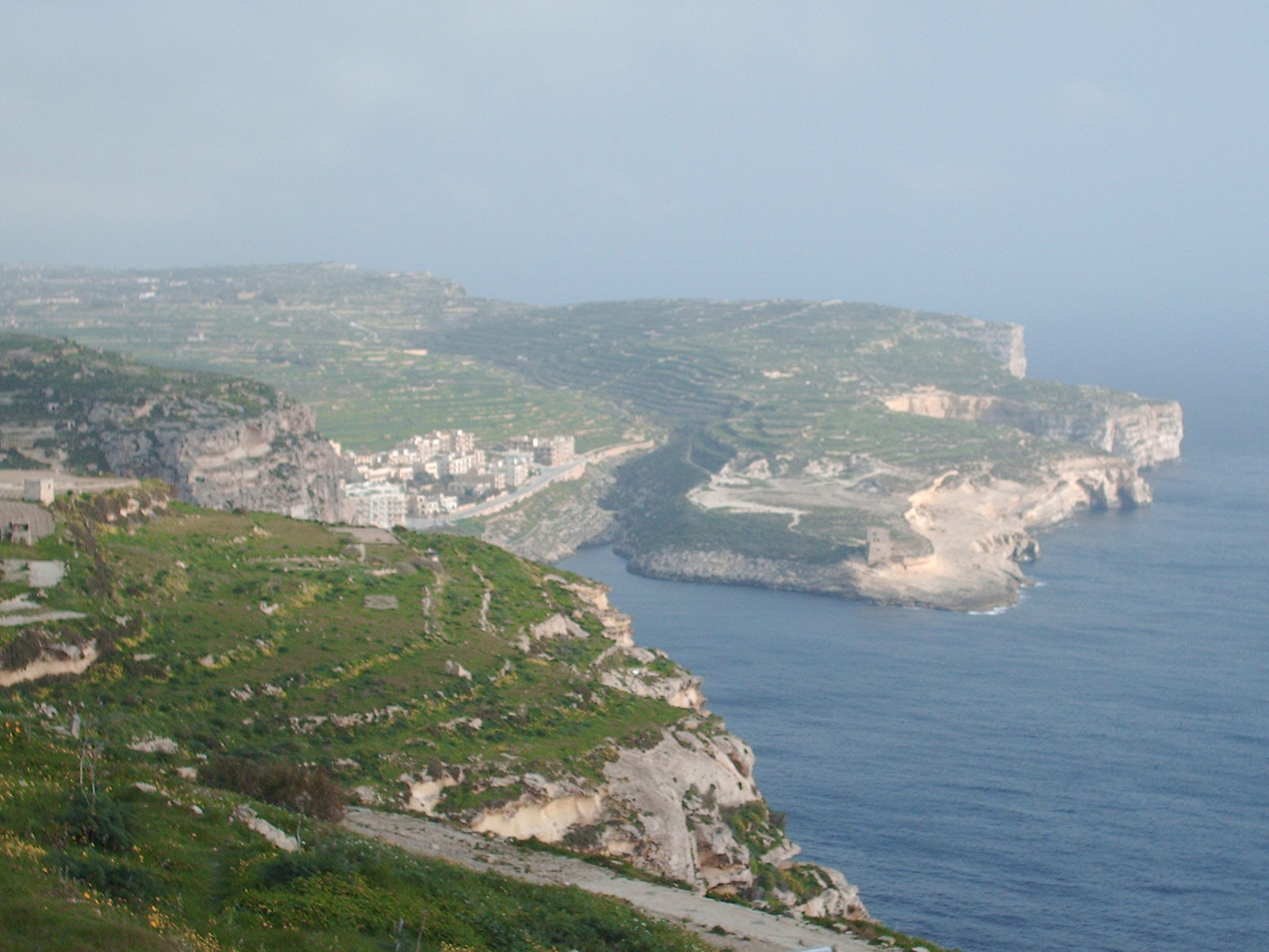 View of Xlendi with the Jeeps from Ta' Cenc